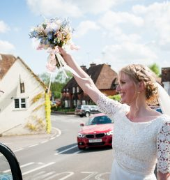 bridal make up and hair, Chiddingfold wedding venue, Surrey