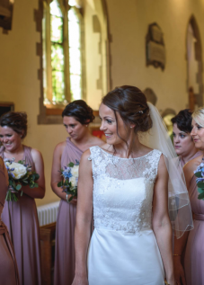 bridal make up and hair, Cowdray House wedding venue, West Sussex