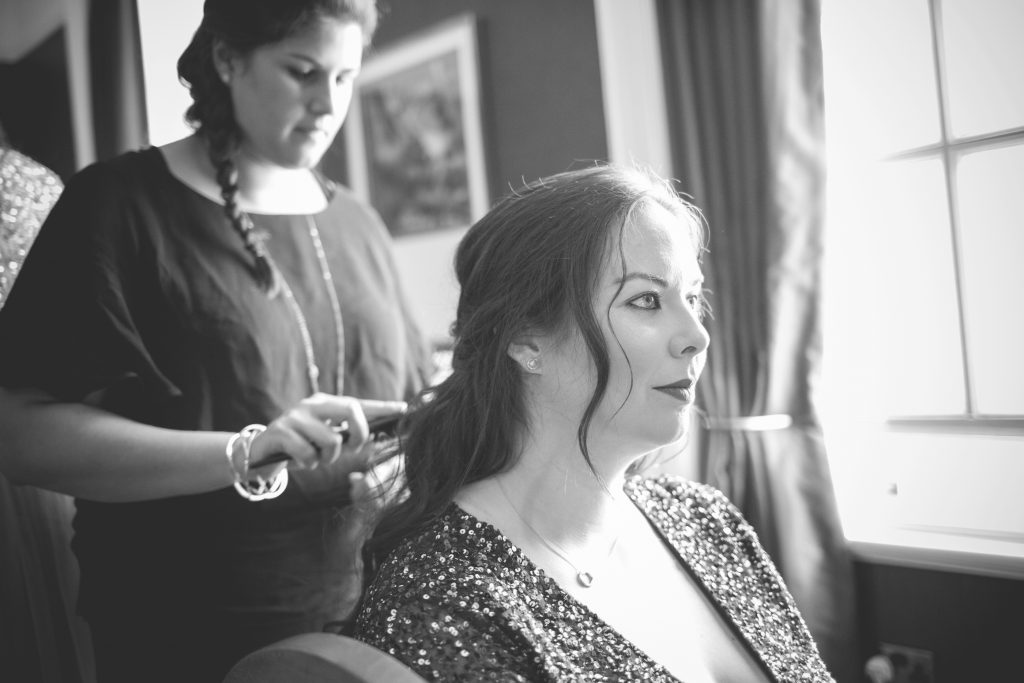 bridal make up and hair, Caledonian Club wedding venue, London