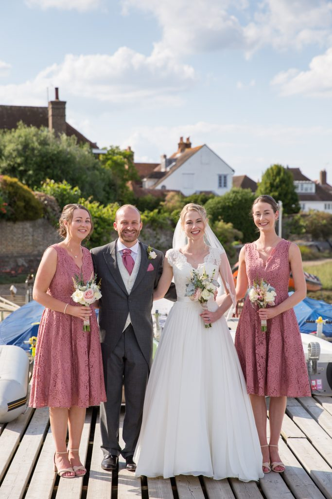 bridal make up and hair, Itchenor Sailing Club wedding venue, Chichester, West Sussex