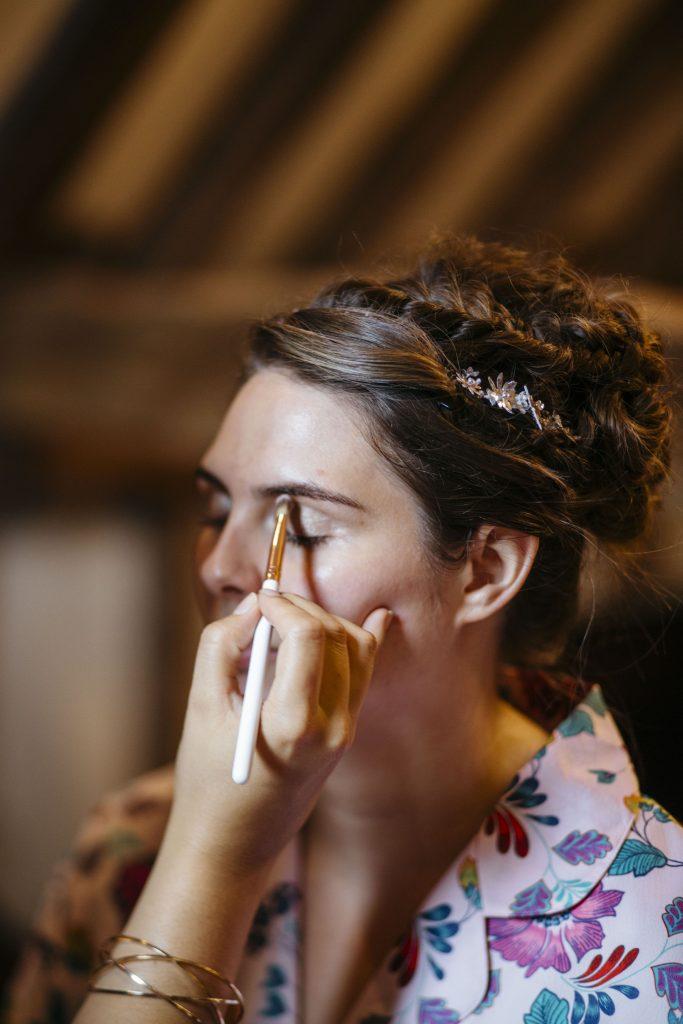 bridal make up and hair, Wisley Gardens, Surrey