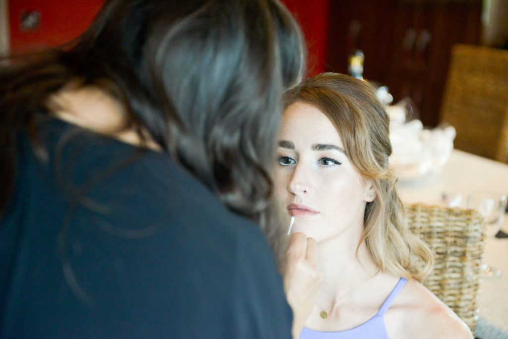 bridal make up and hair, Tithe Barn, Petersfield